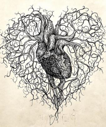 Liam Reading Art Heart Symbol & Organ